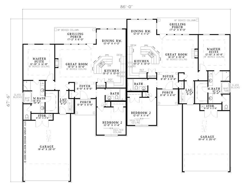 Multi unit house plans home design ndg 797 7885 for Multi unit home plans