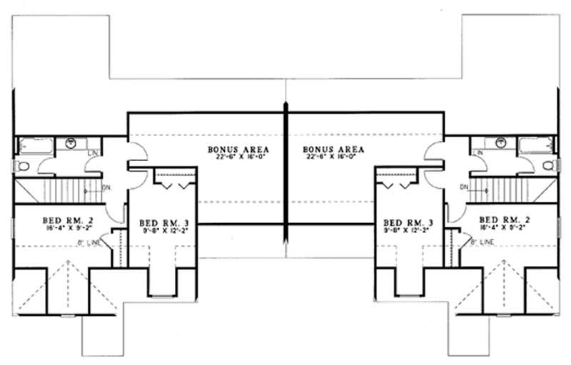 Traditional multi unit house plans home design auburn for Multi unit house plans