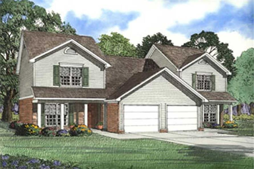 6-Bedroom, 1251 Sq Ft Multi-Unit Home Plan - 153-1540 - Main Exterior