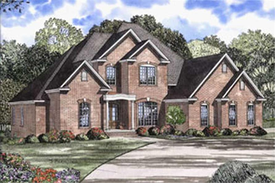 4-Bedroom, 3476 Sq Ft European House Plan - 153-1543 - Front Exterior