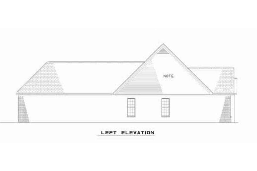 Home Plan Left Elevation of this 6-Bedroom,3026 Sq Ft Plan -153-1544