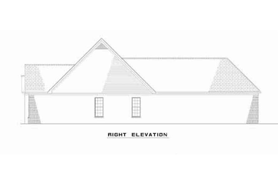 Home Plan Right Elevation of this 6-Bedroom,3026 Sq Ft Plan -153-1544