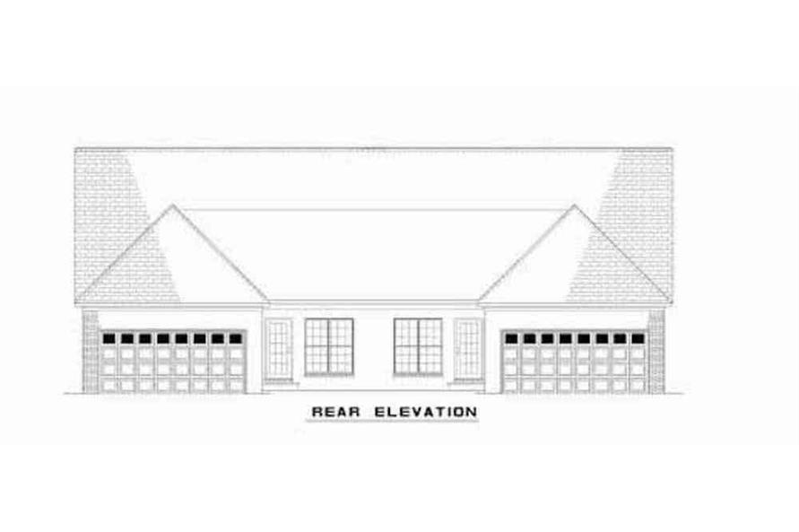 Home Plan Rear Elevation of this 6-Bedroom,3026 Sq Ft Plan -153-1544