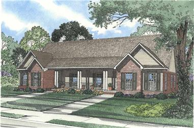 6-Bedroom, 3026 Sq Ft Multi-Unit House - Plan #153-1544 - Front Exterior