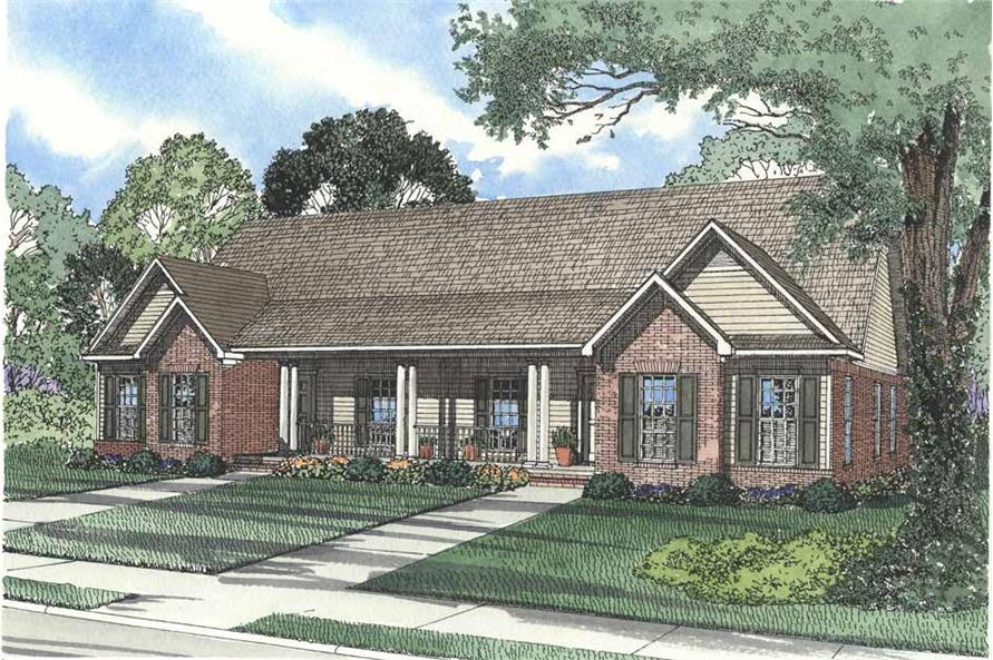 6-Bedroom, 1513 Sq Ft Multi-Unit Home Plan - 153-1544 - Main Exterior