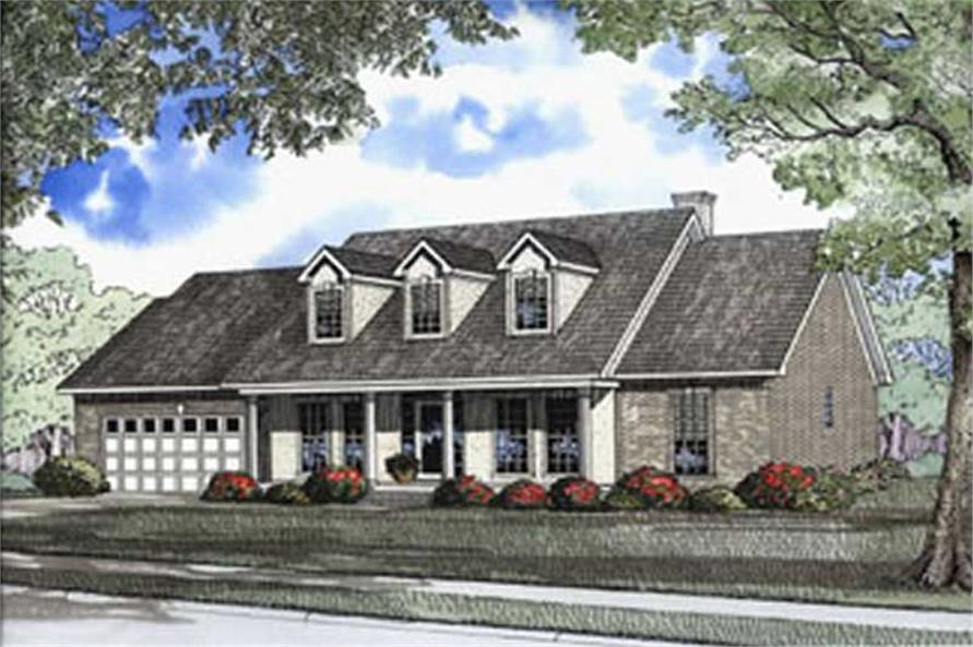 4-Bedroom, 2250 Sq Ft Southern House Plan - 153-1547 - Front Exterior
