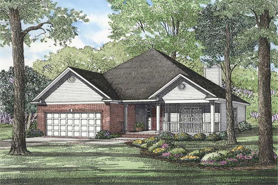 3-Bedroom, 1892 Sq Ft Southwest House Plan - 153-1548 - Front Exterior