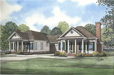4-Bedroom, 1172 Sq Ft Multi-Unit Home Plan - 153-1549 - Main Exterior