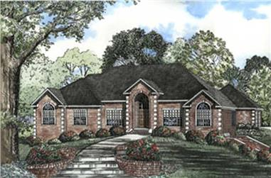 4-Bedroom, 3062 Sq Ft Contemporary House Plan - 153-1551 - Front Exterior