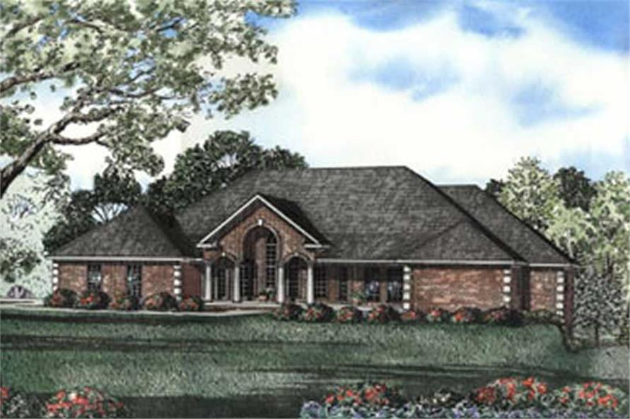 Home Plan Rear Elevation of this 4-Bedroom,3062 Sq Ft Plan -153-1551