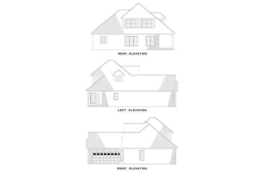 EXTERIOR ELEVATIONS of this 2-Bedroom,2041 Sq Ft Plan -2041