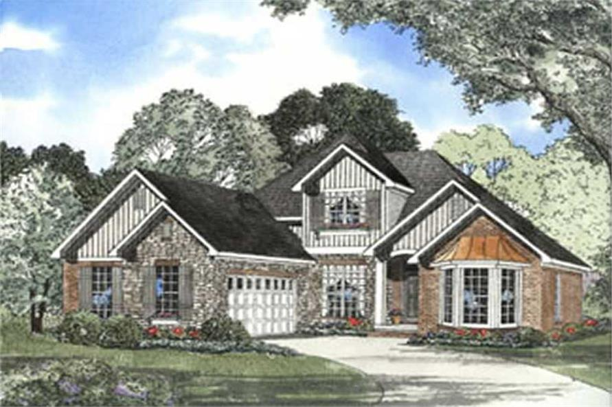 2-Bedroom, 2041 Sq Ft Country House Plan - 153-1553 - Front Exterior
