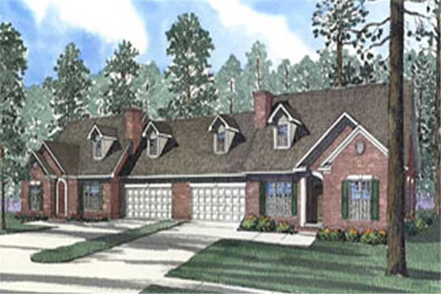 6-Bedroom, 1697 Sq Ft Multi-Unit Home Plan - 153-1554 - Main Exterior