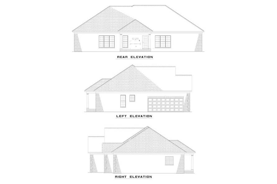 EXTERIOR ELEVATIONS of this 4-Bedroom,1989 Sq Ft Plan -1989