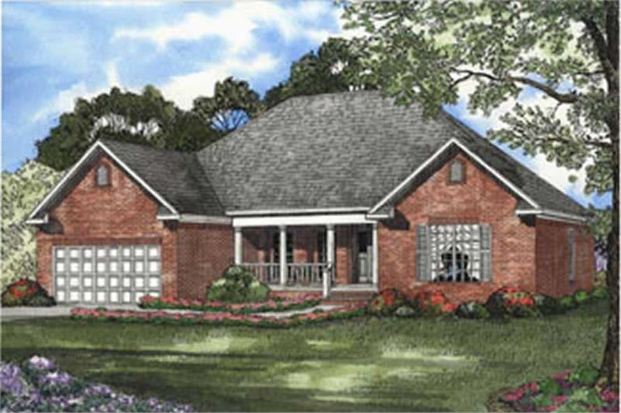 4-Bedroom, 1880 Sq Ft Country House Plan - 153-1559 - Front Exterior