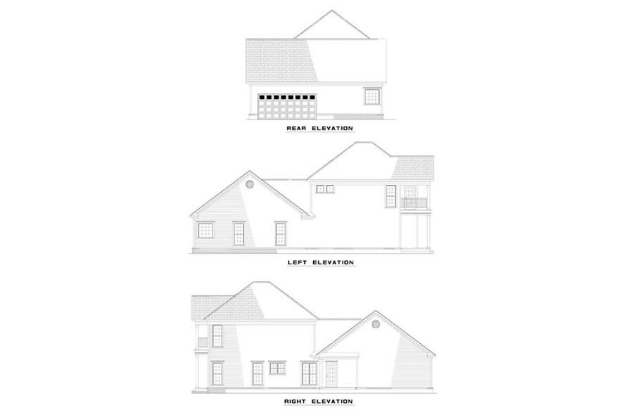 EXTERIOR ELEVATIONS of this 3-Bedroom,1922 Sq Ft Plan -1922