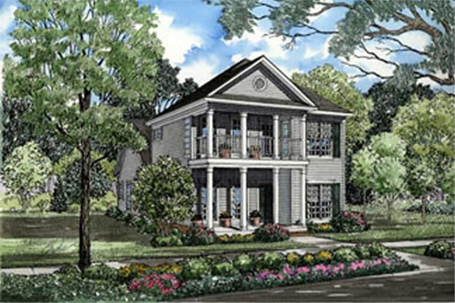 3-Bedroom, 1922 Sq Ft Southern House Plan - 153-1560 - Front Exterior