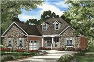Main image for French country house plan. (153-1561)