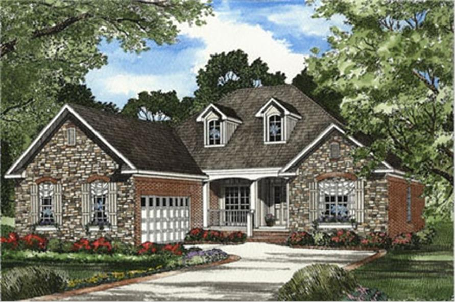 4-Bedroom, 1930 Sq Ft Country House Plan - 153-1561 - Front Exterior