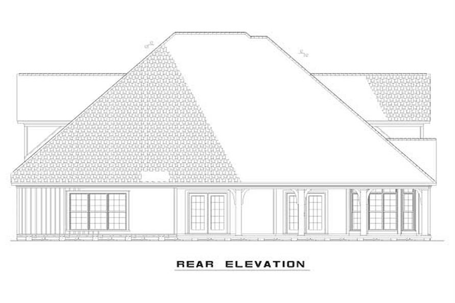 Home Plan Rear Elevation of this 4-Bedroom,2815 Sq Ft Plan -153-1563