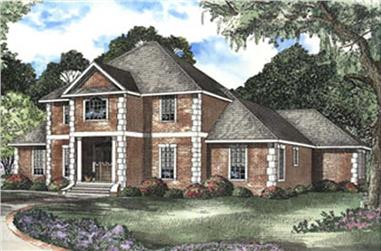 4-Bedroom, 2922 Sq Ft French House Plan - 153-1566 - Front Exterior