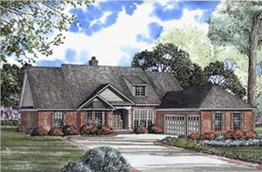 5-Bedroom, 3077 Sq Ft European House Plan - 153-1568 - Front Exterior