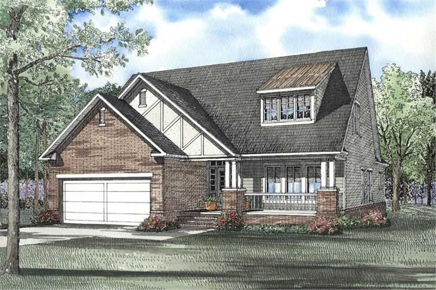 3-Bedroom, 2288 Sq Ft Craftsman Home Plan - 153-1569 - Main Exterior