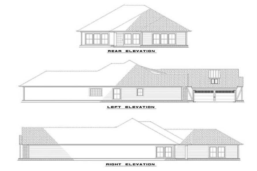 EXTERIOR ELEVATIONS of this 3-Bedroom,1747 Sq Ft Plan -1747