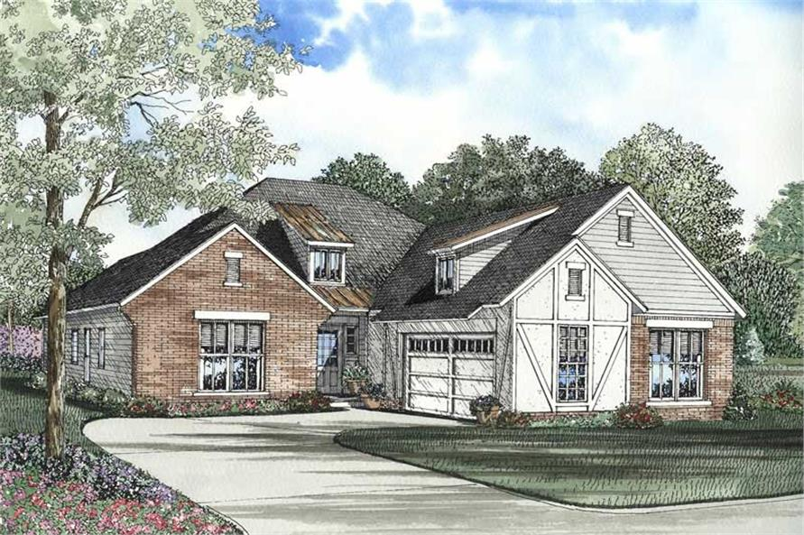 3-Bedroom, 1747 Sq Ft Craftsman Home Plan - 153-1570 - Main Exterior