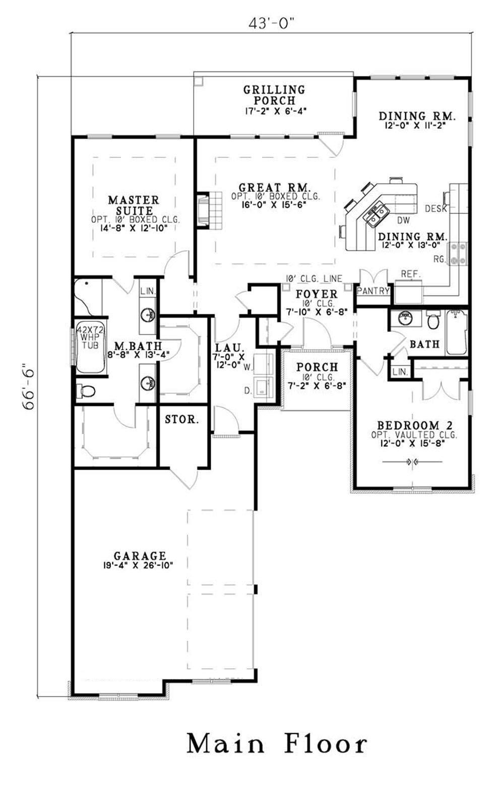 Large images for house plan 153 1571 for Home plans com