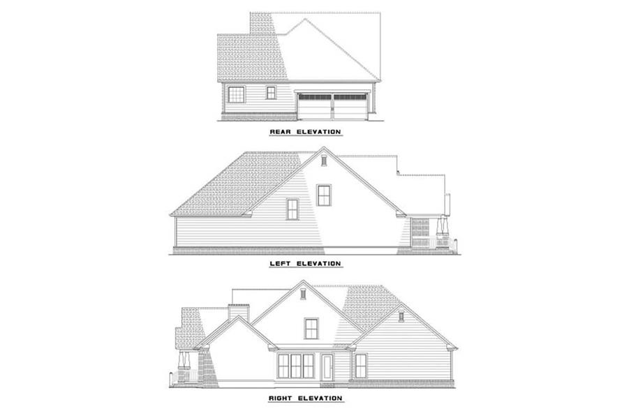 EXTERIOR ELEVATIONS of this 3-Bedroom,2146 Sq Ft Plan -2146
