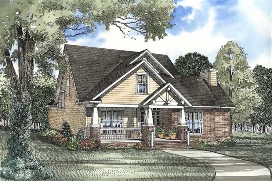 3-Bedroom, 2146 Sq Ft Craftsman Home Plan - 153-1572 - Main Exterior