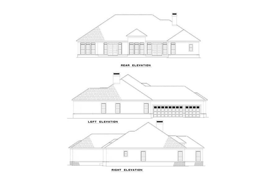 EXTERIOR ELEVATIONS of this 4-Bedroom,2951 Sq Ft Plan -2951