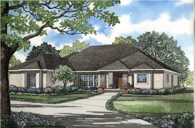 4-Bedroom, 2951 Sq Ft Contemporary Home Plan - 153-1573 - Main Exterior