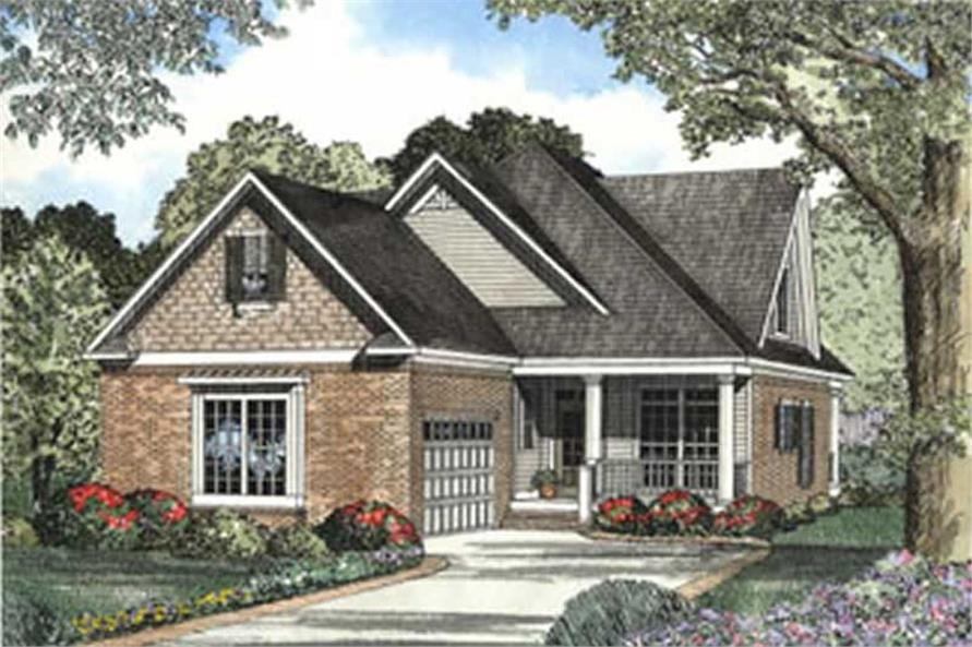 3-Bedroom, 2016 Sq Ft Southern Home Plan - 153-1575 - Main Exterior
