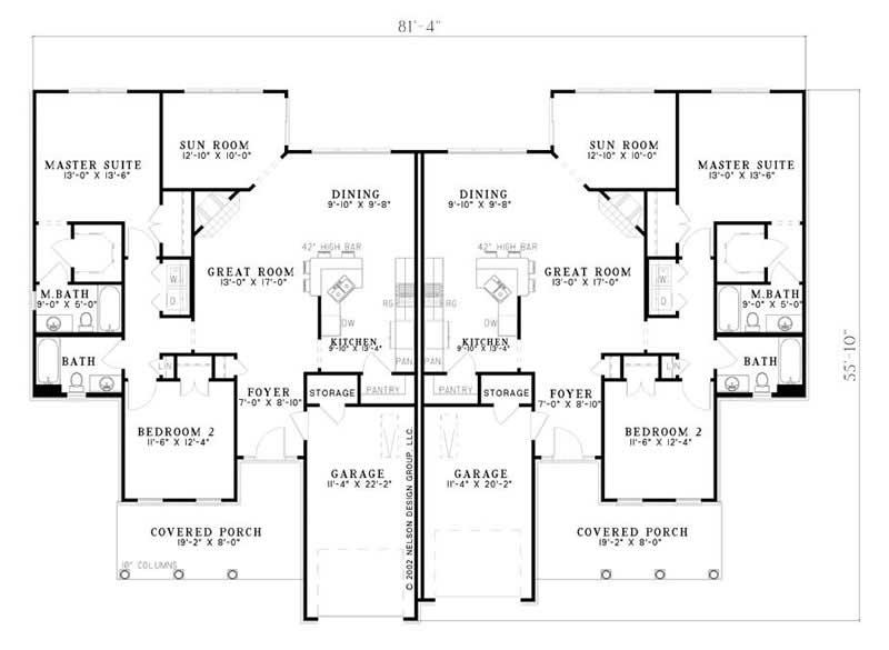 Multi Unit House Plans Home Design Ndg 659 7777