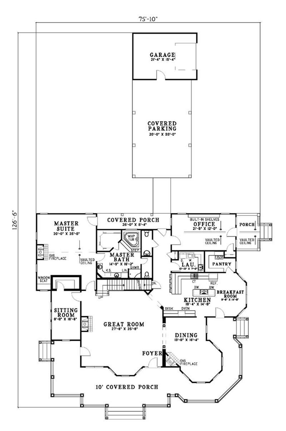 Luxury Houseplans Home Design Main Street 3816