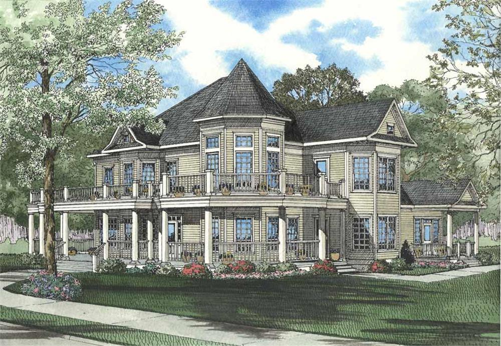 Front elevation of Country home (ThePlanCollection: House Plan #153-1577)
