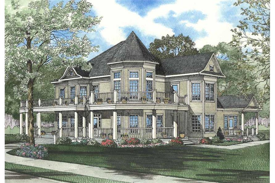 3-Bedroom, 5293 Sq Ft Country House Plan - 153-1577 - Front Exterior
