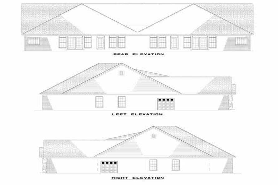 Home Plan Front Elevation of this 6-Bedroom,1581 Sq Ft Plan -153-1578