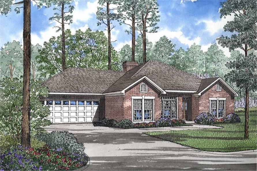 4-Bedroom, 1926 Sq Ft French Home Plan - 153-1579 - Main Exterior