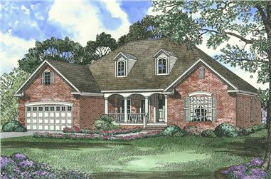 4-Bedroom, 1880 Sq Ft Country House Plan - 153-1582 - Front Exterior