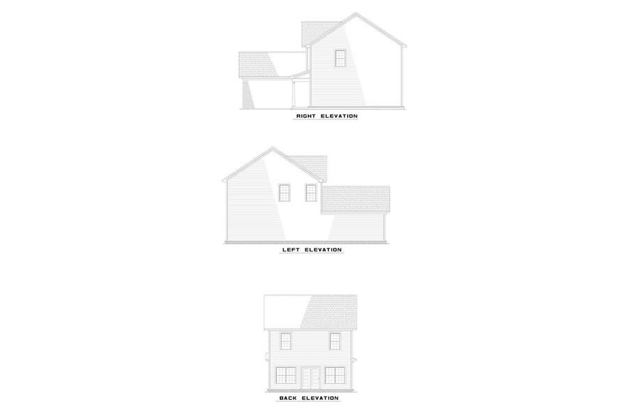 EXTERIOR ELEVATIONS of this 3-Bedroom,1375 Sq Ft Plan -1375