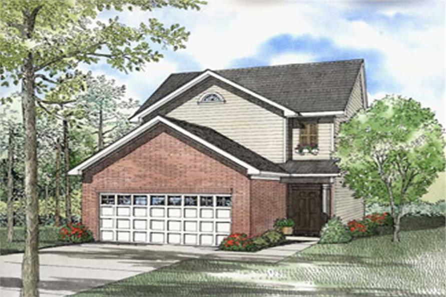 3-Bedroom, 1375 Sq Ft Country House Plan - 153-1583 - Front Exterior