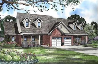 1-Bedroom, 1180 Sq Ft Multi-Unit Home Plan - 153-1586 - Main Exterior