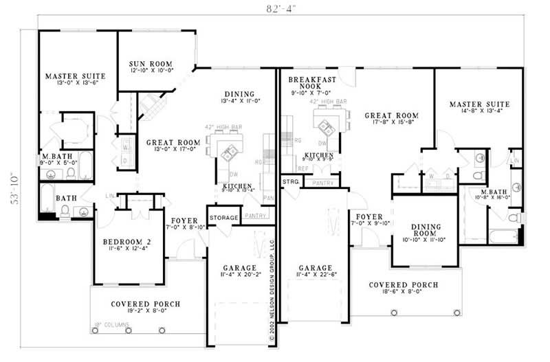 Multi unit house plans home design plan 153 1586 for Multi unit floor plans