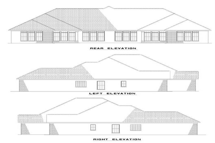 153-1587: Home Plan Rear Elevation