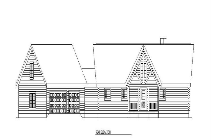 Home Plan Rear Elevation of this 3-Bedroom,2521 Sq Ft Plan -153-1590