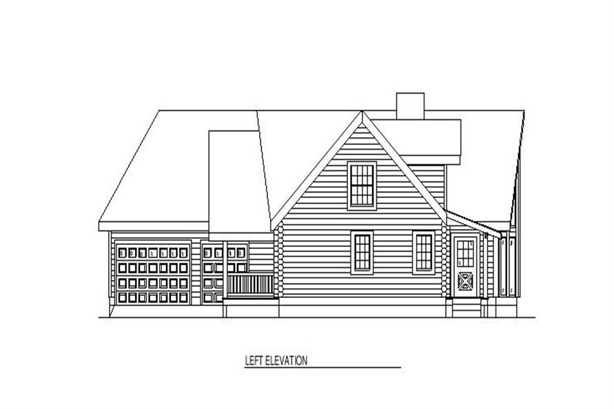 Home Plan Left Elevation of this 3-Bedroom,2521 Sq Ft Plan -153-1590