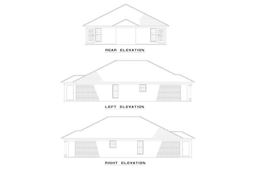 EXTERIOR ELEVATIONS of this 4-Bedroom,1844 Sq Ft Plan -1844